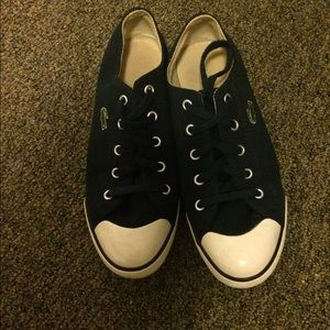 Lacoste converse style shoes